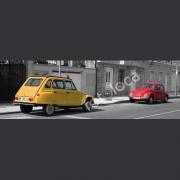 "Abzug Fotografie ""2CV vs. VW Käfer"""