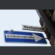 """Abzug Fotografie """"Weedgasse Einbahnstrasse"""""""