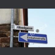 """Abzug Fotografie """"Weedgasse Einbahnstrasse 2"""""""