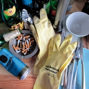 """1 Paar Gummihandschuhe Joint Venture """"Ich brauch Personal"""""""
