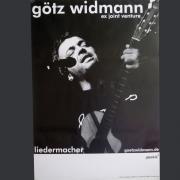 Tourplakat Götz Widmann schwarz/weiss, um 2007/08