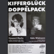 "Tourplakat Götz Widmann / Howard Marks ""Kifferglück im Doppelpack"""
