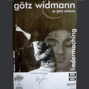 """Tourplakat Götz Widmann """"Liedermaching"""" 2002/03"""