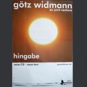 "Tourplakat Götz Widmann ""Hingabe"" 2009/10"