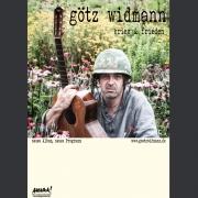 """Tourplakat Götz Widmann """"Krieg & Frieden 1"""" 2014/15"""