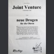 """Tourplakat Joint Venture """"Neue Drogen für die Ohren"""" 1993"""