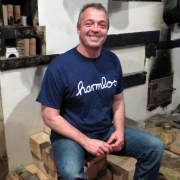 """T-Shirt Götz Widmann """"harmlos"""" dunkelblau, Grösse XL"""