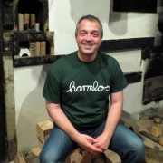 "T-Shirt Götz Widmann ""harmlos"" dunkelgrün"