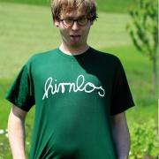 """T-Shirt Robert Kauffmann """"hirnlos"""" Dunkelgrün"""