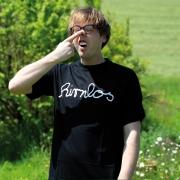 """T-Shirt Robert Kauffmann """"hirnlos"""" Schwarz"""