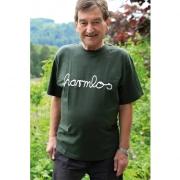 "T-Shirt Götz Widmann ""harmlos"" olivgrün"
