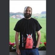 """T-Shirt Götz Widmann """"Teufel"""", Grösse XL"""