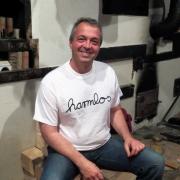 """T-Shirt Götz Widmann """"harmlos"""" weiss"""