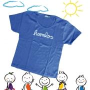 "Kinder T-Shirt Götz Widmann ""harmlos"" blau"