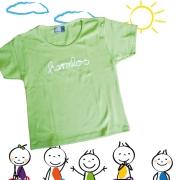 """Kinder T-Shirt Götz Widmann """"harmlos"""" lindengrün"""
