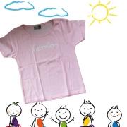 """Kinder T-Shirt Götz Widmann """"harmlos"""" rosa"""