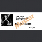 Ticket Konzert FALK Do., 17.10.2019 Lila Eule, Bremen