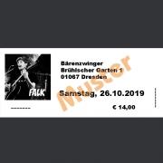 Ticket Konzert FALK Sa., 26.10.2019 Bärenzwinger, Dresden