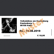 Ticket Konzert FALK Do., 15.08.2019, Volksbühne am Kaulenberg, Halle (Saale)