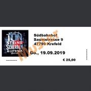 Ticket Konzert Kai & Funky von TON STEINE SCHERBEN mit Gymmick: Do., 19.09.2019 Südbahnhof, Krefeld
