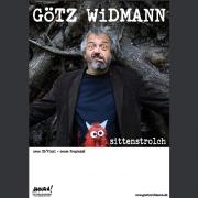 """Tourplakat Götz Widmann """"Sittenstrolch"""" 2017"""